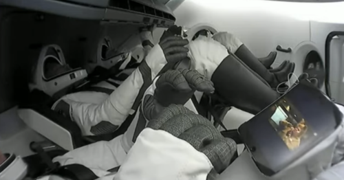 SpaceX Tourist Watches Movie While Careening Down to Earth