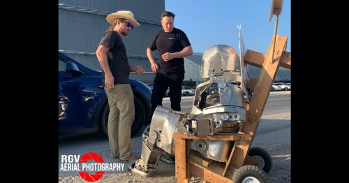 Elon Musk Meets with Creator of Iron Man-Style Suit at SpaceX Launch Site