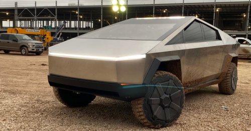 Elon Musk Takes Cybertruck for Off-Road Joyride