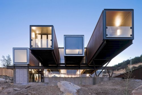 Caterpillar House: A Prefabricated House Built from Shipping Containers