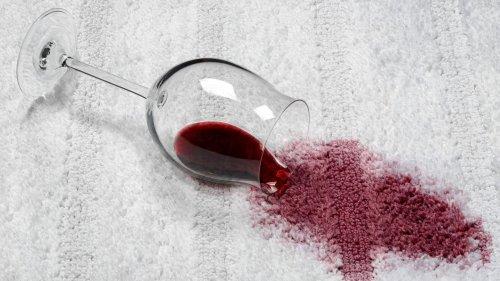 Rotweinflecken entfernen, kann so einfach sein