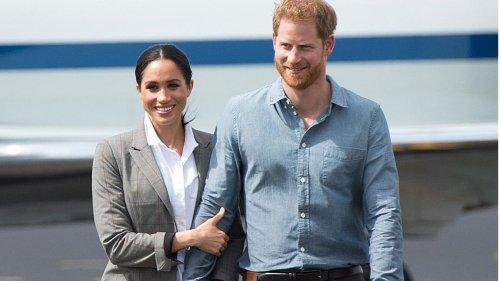 Herzogin Meghan: Ihren Prinz Harry hat sie stets fest im Griff