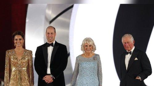 Britische Royals feiern neuen 007-Film