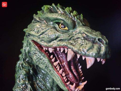 Iconic Godzilla 2000 Head Bust 3D Print with Lights by Kenny Kurtz