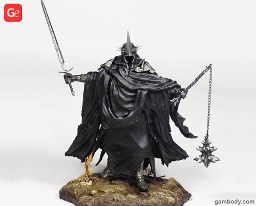 Painting Nazgul 3D Print to Make Perfect Witch-king of Angmar Figure