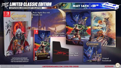Castlevania Anniversary Collection: Classic Edition pre-orders end very soon