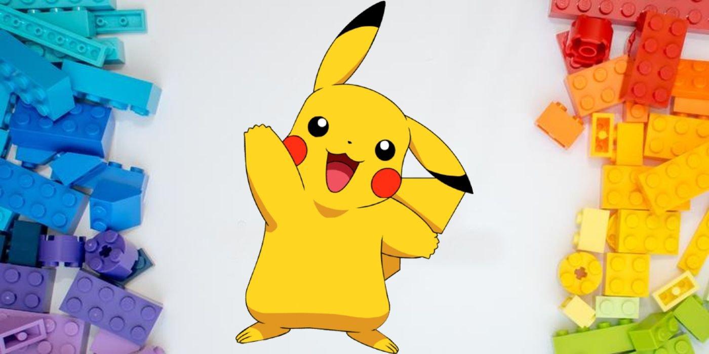 Pokemon Fan Builds Incredible LEGO Pikachu Statue in Time Lapse Video