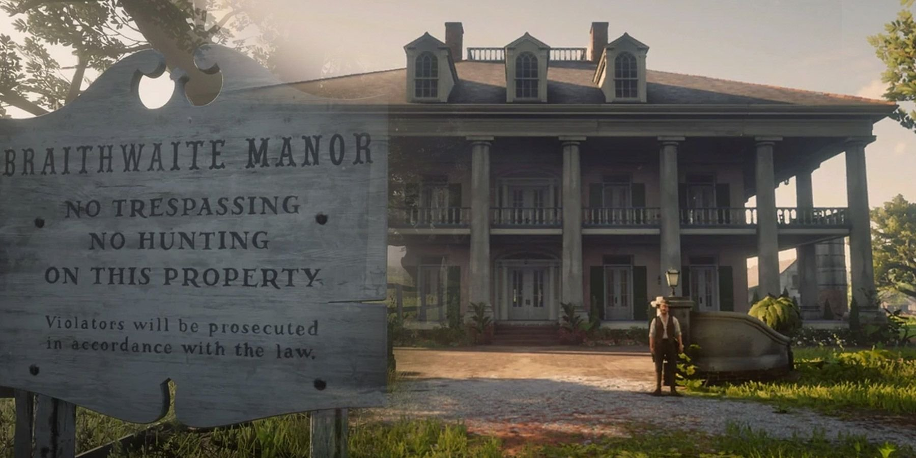 Red Dead Redemption 2's Real-Life Inspirations of Braithwaite Manor Explained