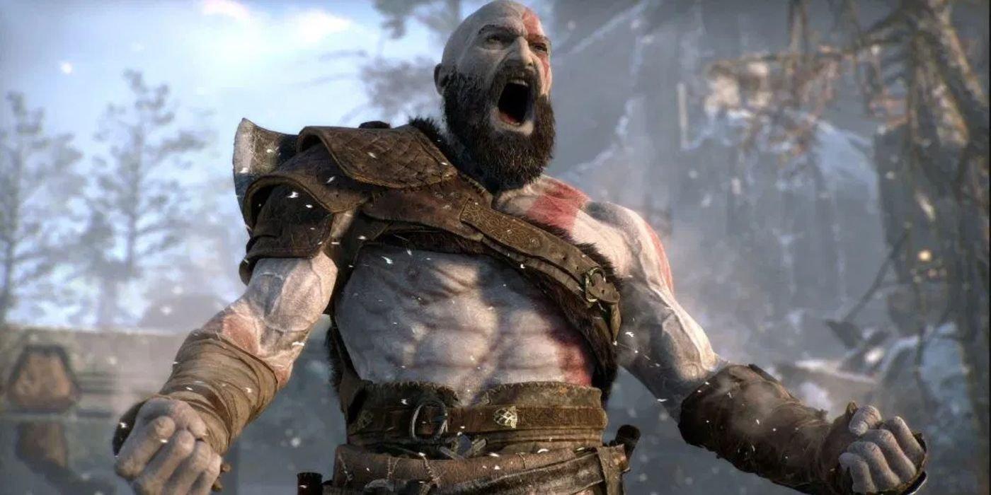 Wrestler Vertvixen Cosplays as Kratos for Match