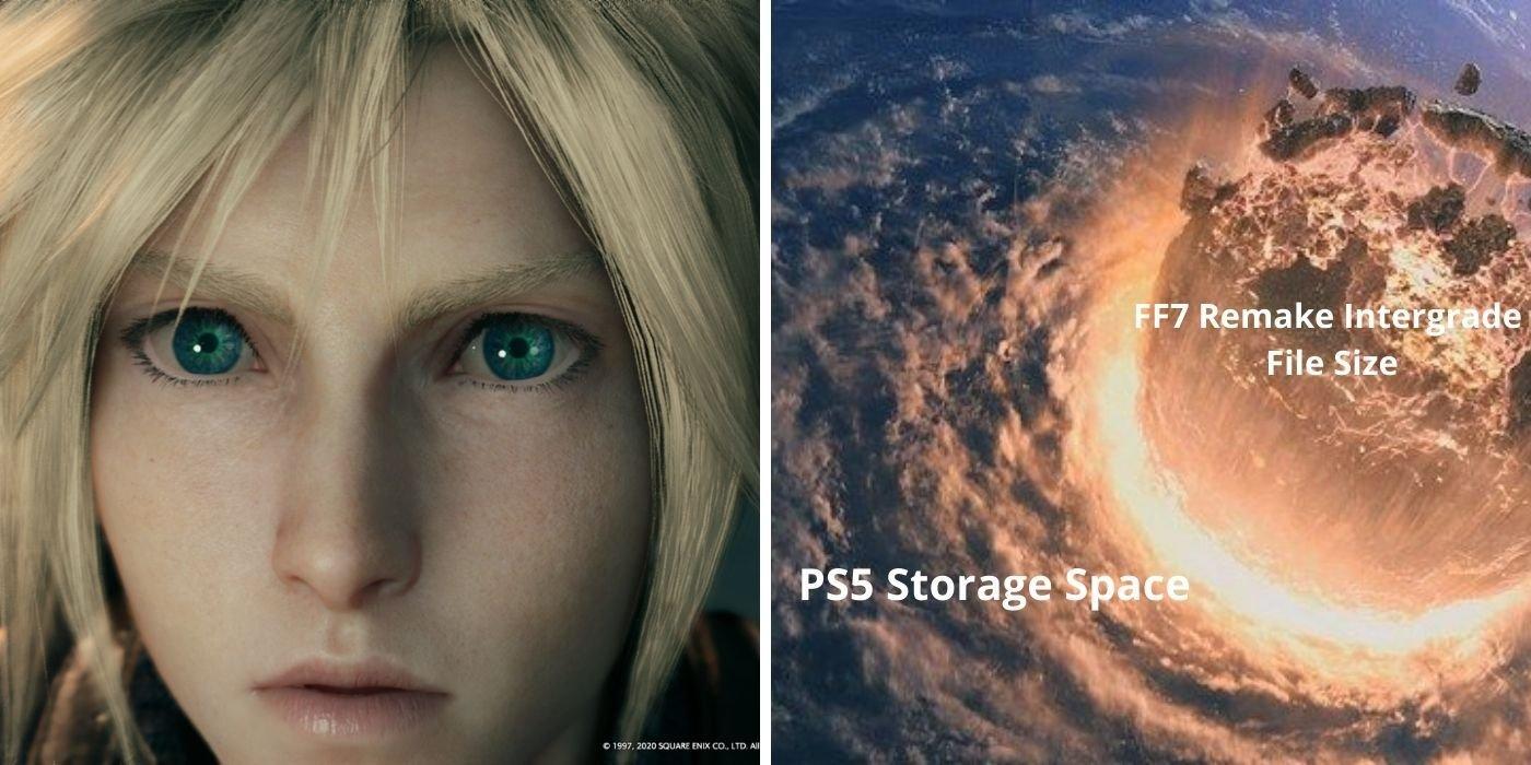 Final Fantasy 7 Remake Intergrade Has Massive File Size on PS5