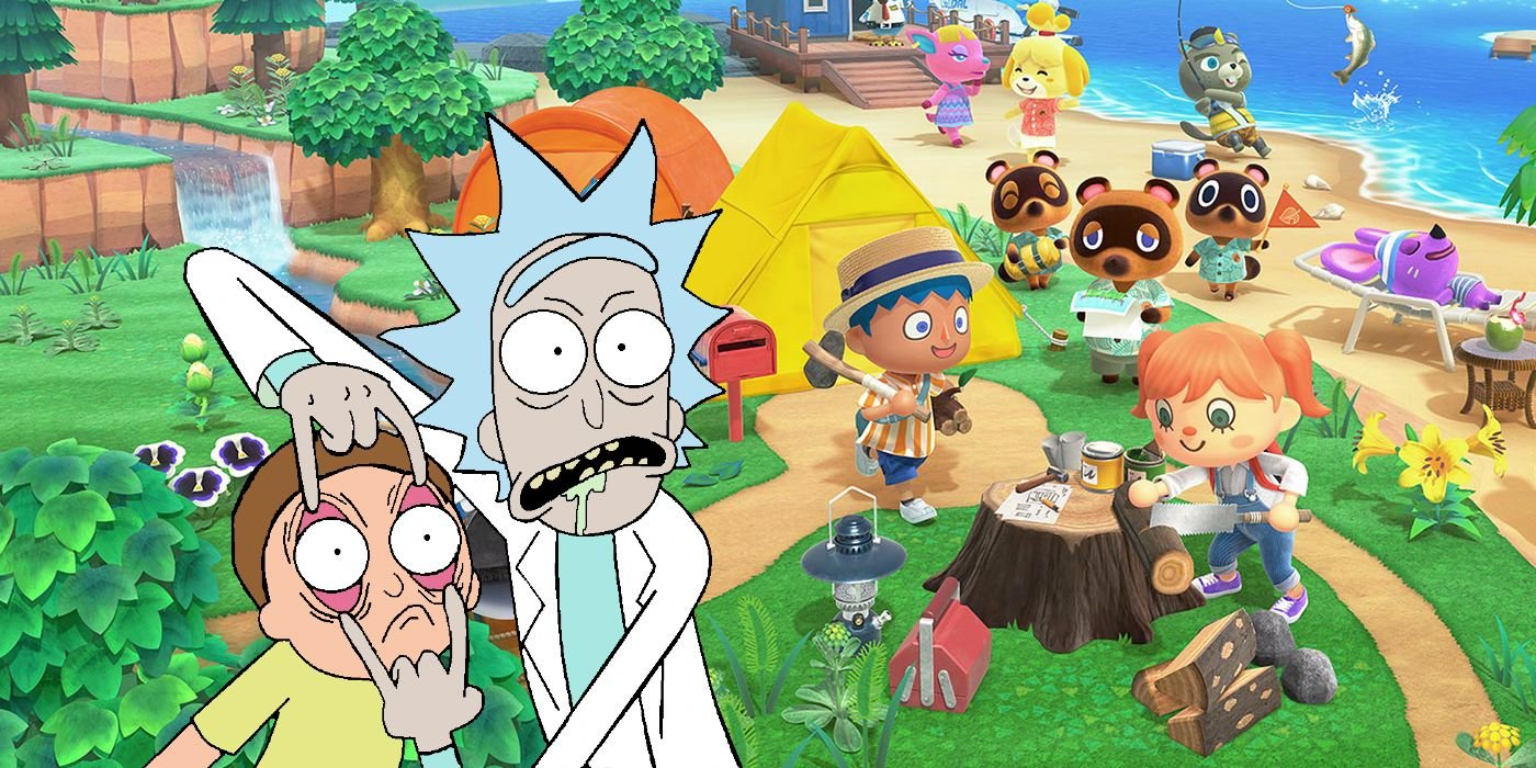 Animal Crossing: New Horizons Player Recreates Garage From Rick and Morty