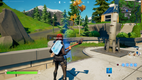 Fortnite: Where To Place Welcome Signs In Pleasant Park And Lazy Lake