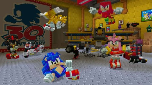 Minecraft Sonic DLC Is Available Now, And It's Got Some Very Square Rings