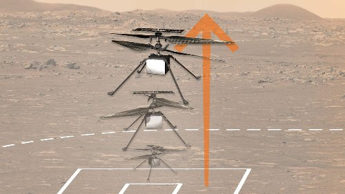 As NASA Perseverance rover watches, Ingenuity helicopter attempts first powered flight on Mars