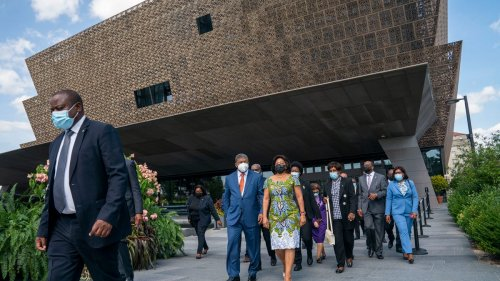 Angola's president left emotional after tour of national African American history museum