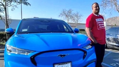 Tesla owner with Mustang Mach-E reports threats on social media from Tesla fans