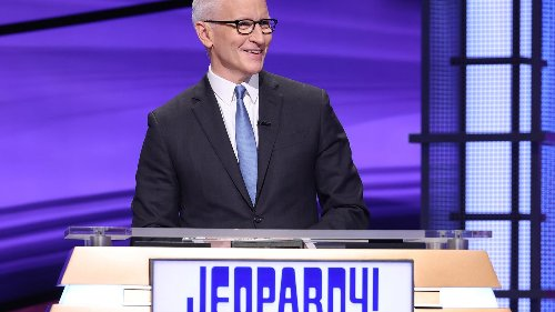 See adorable photo of 'Jeopardy!' guest host Anderson Cooper's son watching him on TV for the first time