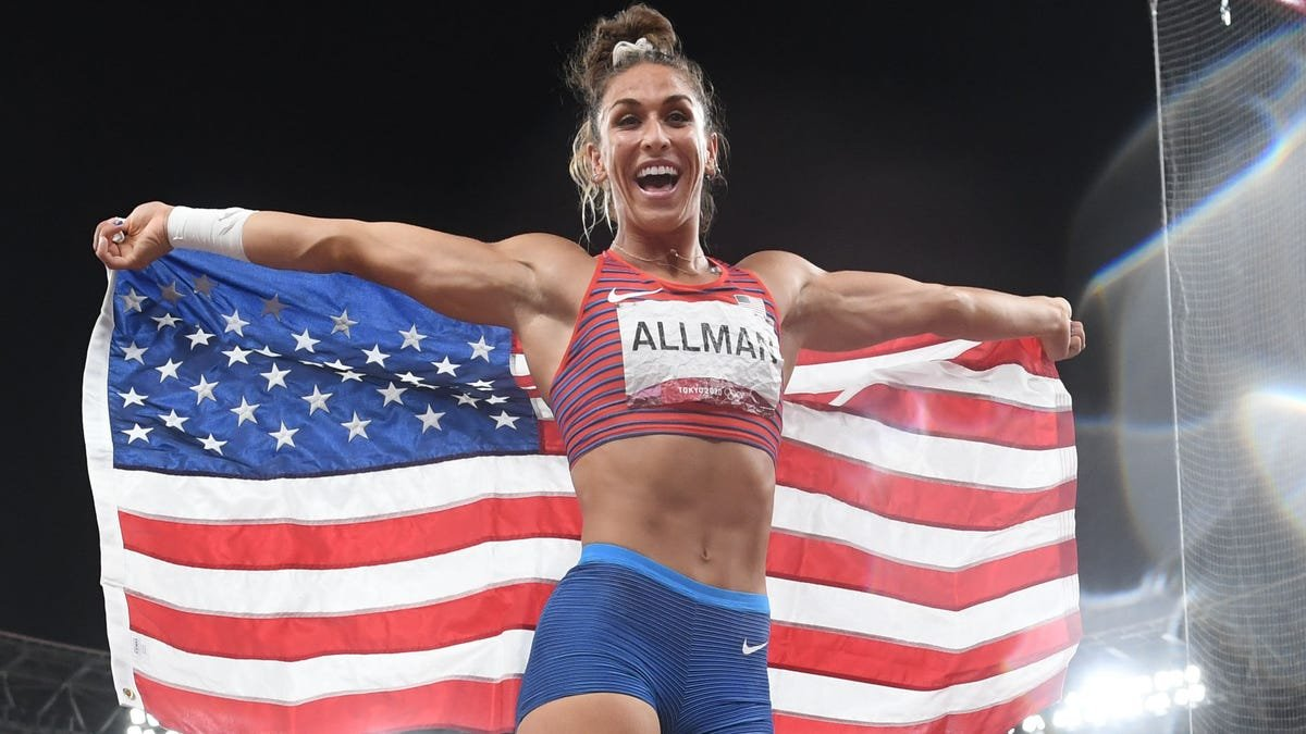 American Valarie Allman takes unusual path to becoming Olympic gold-medalist in discus