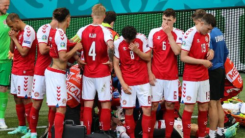 Denmark's Christian Eriksen awake, stable after collapsing on field at Euro 2020