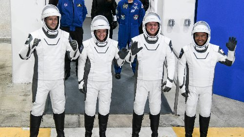 NASA, SpaceX launch astronauts to space station from Kennedy Space Center, first time using recycled rocket