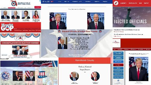 Is Donald Trump still president? On Republican websites across Florida, the answer is yes