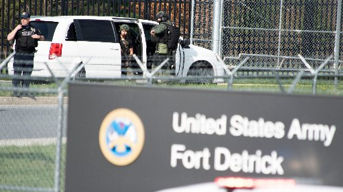 Navy medic gunned down at Fort Detrick in Maryland after shooting 2 sailors in Frederick industrial park