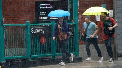 New York City subway stations flooded in waist-high water ahead of Tropical Storm Elsa