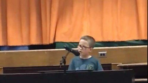 Fourth-grader's talent show cover of John Lennon's 'Imagine' goes viral