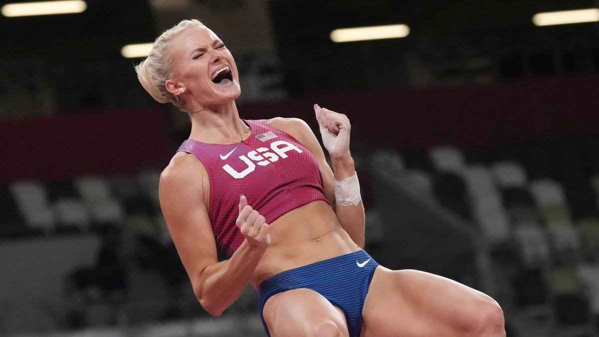Katie Nageotte of the U.S. rallies to win gold in pole vault at the Tokyo Olympics