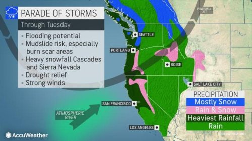 A 'monster' coming this weekend: Bomb cyclone, atmospheric river to blast western U.S.