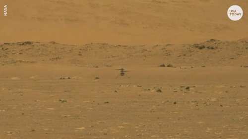 NASA Ingenuity helicopter makes historic first flight on Mars