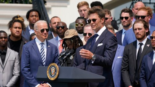Tom Brady makes election joke at White House in reference to Buccaneers' Super Bowl 55 win