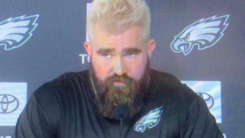 Philadelphia Eagles' Jason Kelce explains his blond hair after losing trade bet to Zach Ertz