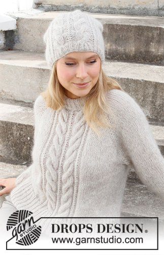 Herringbone Hill / DROPS 215-4 - Free knitting patterns by DROPS Design
