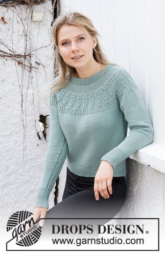 Wild Mint Sweater / DROPS 215-16 - Free knitting patterns by DROPS Design