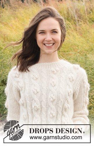 Buttercream Swirls Sweater / DROPS 221-16 - Free knitting patterns by DROPS Design