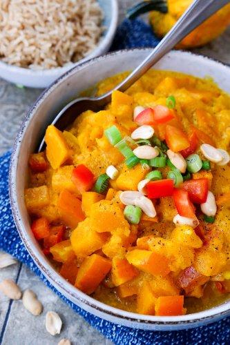 Kürbis-Curry Rezept – vegan mit Kokosmilch