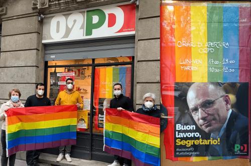 """Milano, l'appello a Letta: """"Una bandiera rainbow in ogni circolo PD per sostenere il DDL Zan"""" - Gay.it"""