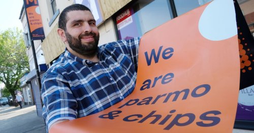 Controversial parmo posters return outside restaurant