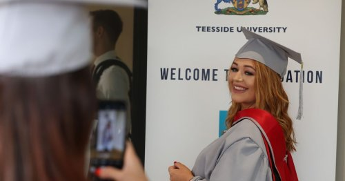 Redcar and Cleveland College graduation held at Kirkleatham Walled Garden.