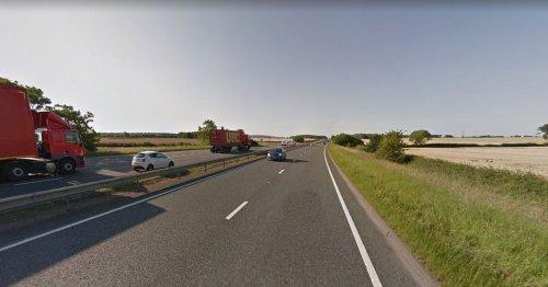 A19 crash between tractor and Transit van causes delays