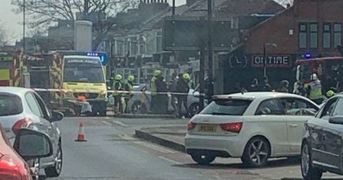 Woman cut out of car following two vehicle Marton Road smash