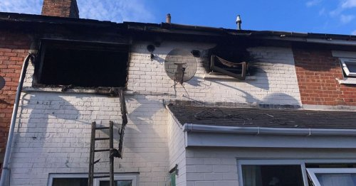 The damage caused to Philomena's home in Acklam