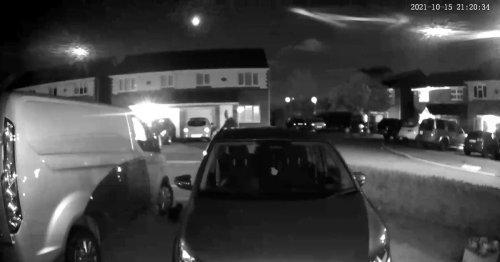 Cat sets doorbell camera rolling to film meteor shooting across sky