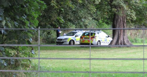 Police at scene as woods taped off close to Acklam Hall
