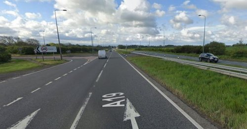 Passing ambulance stopped to help after A19 crash involving horsebox