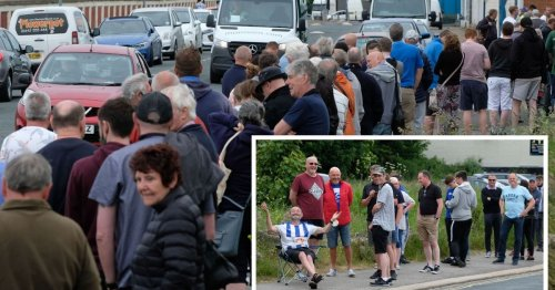 'It'll be worth it on the day': Lengthy queues for Pools' tickets