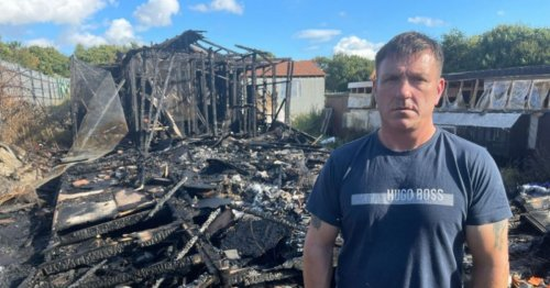 Dad-of-nine devastated after huge blaze killed over 300 pigeons