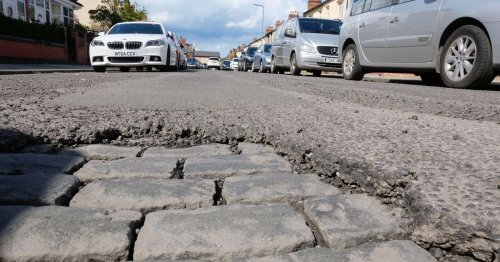 'Appalling' stretches of road see decades-old cobbles emerge