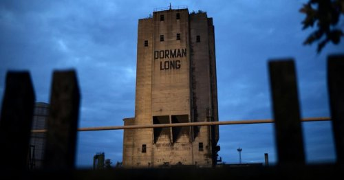 Dorman Long tower lit up as crowds gather ahead of demolition